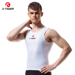 X-Tiger Men's Cycling Base Layers 2021 MTB Bike Cool Mesh Superlight Vest Breathable Short Sleeves Cycling Shirt Undershirt