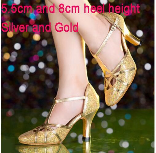 Closed Toe Cheap Ballroom Latin Dance font b Shoes b font Women Girls Handmade 8cm High