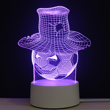 LED 3D Football Magician Evil NightLight Acrylic Night Lamp Light Luminary With Touch And Remote Lamps Lights Kids Decoration