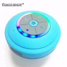 Edwo Q9 Портативный Беспроводной Bluetooth Динамик Водонепроницаемый душ Sucker Ванная комната свет музыке стерео для iPhone Samsung Xiaomi