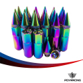 PQY- NEO CHROME 20PCS HIGH QUALITY ALUMINUM EXTENDED TUNER WHEEL LUG NUTS WITH SPIKE FOR WHEELS/RIMS M12X1.25 PQY- ELBN12125CR