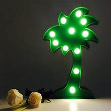 11 LED Hanging Table Adornment Coconut Palm Tree Lights Lamp for Christmas Home Wedding Party Decoration (Green)(China)