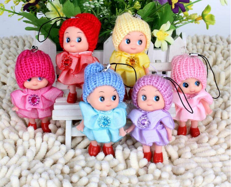 1PCS Phone Pendant Ornament Mini Ddung Doll Best Toy Gift For Girl Confused Doll Key Chain  Random Clour