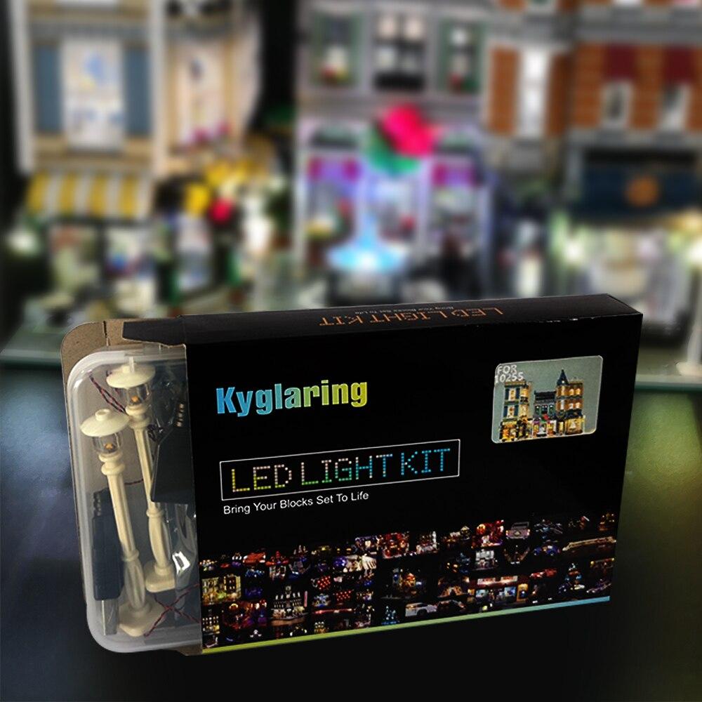 Набор светодиодных ламп для Лего, сборочный квадратный набор, совместимый с 10255 и 15019