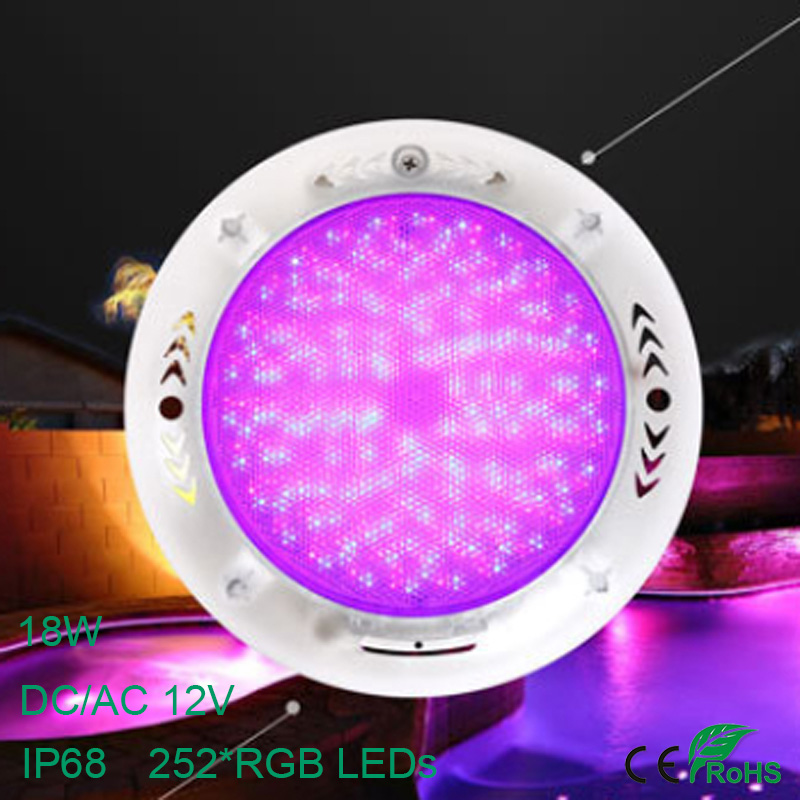 IP68 Waterproof Underwater Light AC 12V 18W Color RGB LED Swimming Pool Lamp 252 LEDs Fountain Light Outdoor Lighting Pond Light free shipping ko w300 id card 125khz metal card access controller