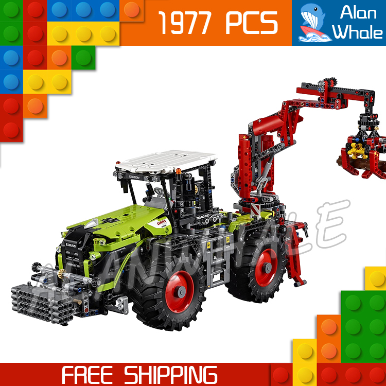 1977pcs 2in1 New Technic XERION 5000 TRAC VC 20009 DIY Model Building Kit Blocks Toys Power Functions Compatible With lego siku трактор claas xerion 5000