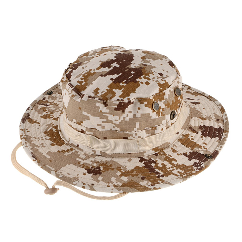 637c27d4b78 Military Camouflage Men Boonie Hat Bush Safari Hiking Hunting Boating Snap  Brim Hat Sun Cap for Outdoor Sports Fishing on Aliexpress.com