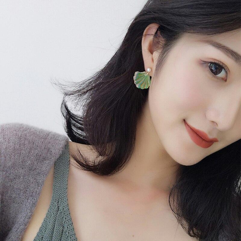 Romantic resin earrings | Pearl shell earrings | Color earrings | SYstore