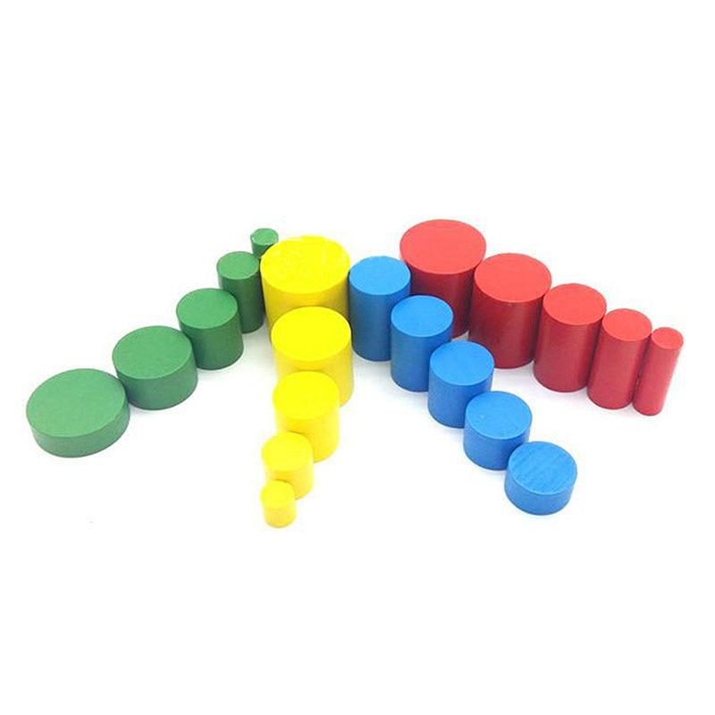 Купить с кэшбэком Montessori Materials Montessori Toys Educational Games Cylinder Socket Blocks Wooden Math Toys For Children 1 2 3 Years Old Z30