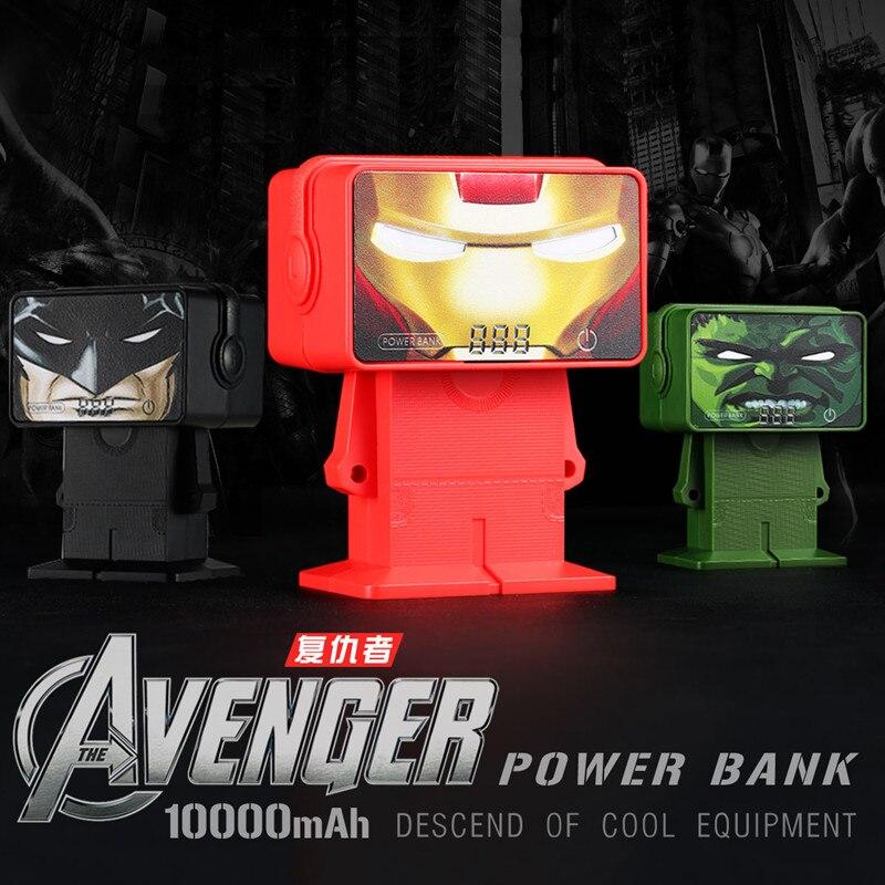 D'origine Remax RPL-20 Avengers Puissance Banque 10000 mAh Chargeur Portable Chargeur Double USB Batterie Externe Universelle Pour Huawei