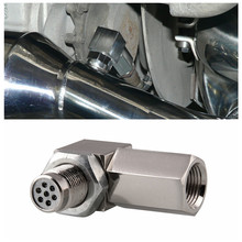 Universal Oxygen Sensor Extender 90 Degree 02 Bung Extension Catalytic Converter O2 Spacer Car Accessories