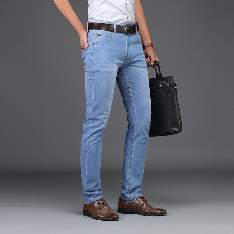 2019 Summer Business Jeans  Style Utr Thin Light  Men's Jeans Fashion Male Casual Denim Men's Jeans Slim Wholesale Jeans