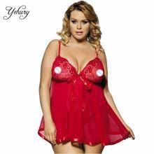 Hot Sale Plus Size Lingerie Costume Sexy Babydoll Mesh Lingerie Sex Nightwear Plus Bigger Large Size Dress For Women