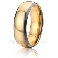آنيل رخيصة التنغستن المجوهرات صديقها هدية لون الذهب الاصبع خواتم الزفاف الرجال