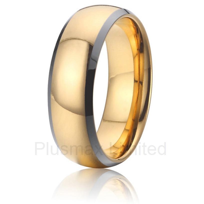 Anel pas cher bijoux en tungstène cadeau petit ami couleur or bagues de mariage hommes