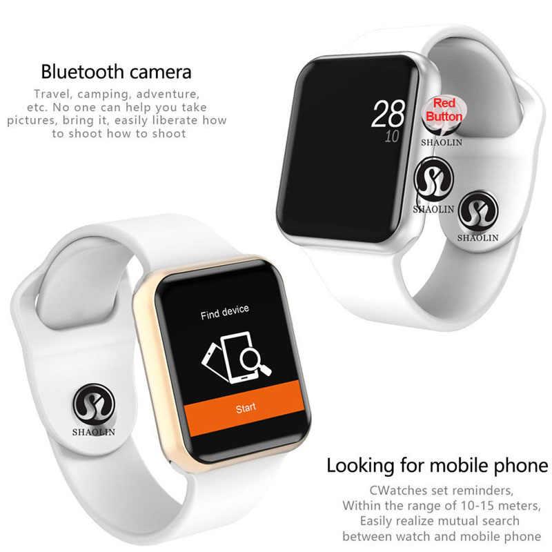 50% off ผู้ชายผู้หญิงบลูทูธสมาร์ท Watch Series 4 SmartWatch สำหรับ Apple IOS iPhone Xiaomi Android โทรศัพท์สมาร์ท (สีแดงปุ่ม)