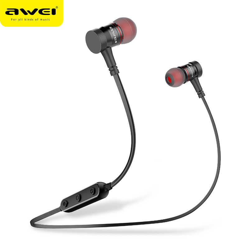 f4a5cc7a480 AWEI B922BL Magnetic Bluetooth Earphone Sports Stereo Music Wireless Headset  Bass Bluetooth Earphones with microphone for