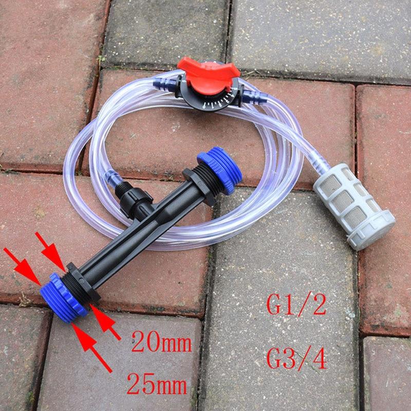 Lawn Irrigation Water Hose Venturi Tube Fertilizer Mixer Injector Kit Garden Spa