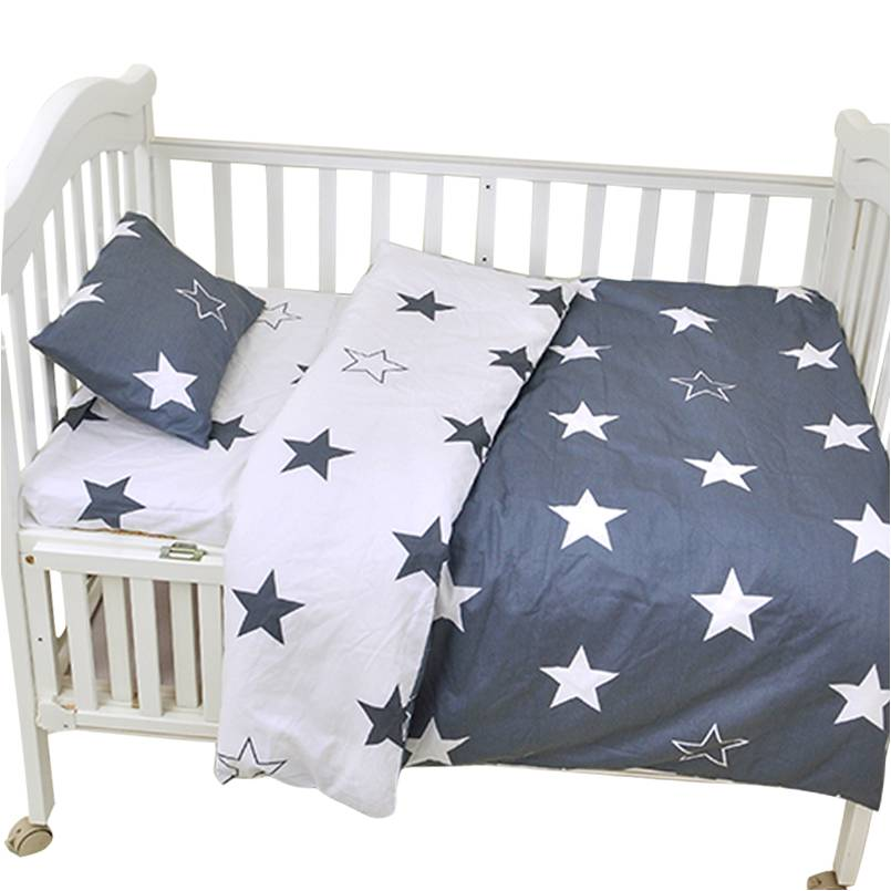Muslinlife 3pcs/set Ins crib bed linen,baby Beddingset(pillow case+bed sheet+duvet cover without filling) Size Within 130*70cm muslinlife 3pcs set baby crib bedding set nursery bedding set pillow case bed sheet duvet cover suit crib size within 130 70cm