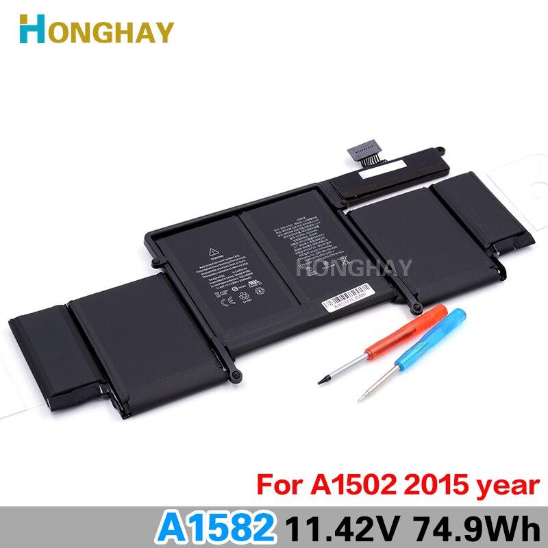 "Honghay מקורי A1582 מחשב נייד סוללה עבור Apple MacBook Pro 13 ""רשתית A1502 2015 שנה 11.42 v 74.9wh 6559 mah"