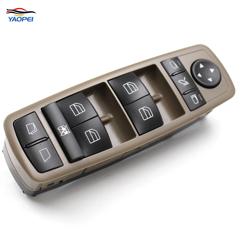 YAOPEI Front left Drivers Window Mirror Master Switch For Mercedes-Benz GL R Class A2518300390 251 830 03 90 8K67 2518300390