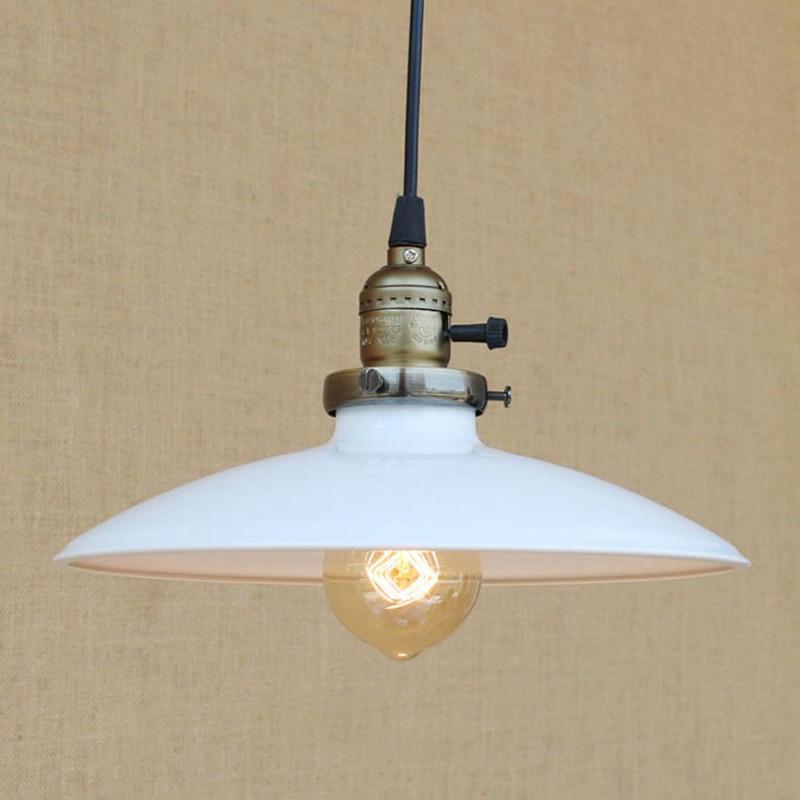 vintage hanging light Modern LED Colorful iron pendant lamp American Loft style bar/restaurant living room E27 lighting fixture