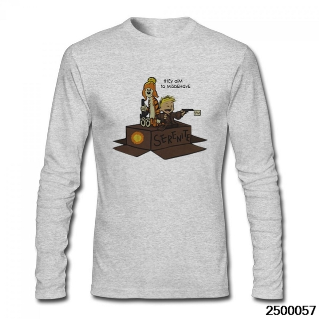 PEGGYNCO serenity calvin and hobbes cool t shirt winter autumn lond sleeve tees