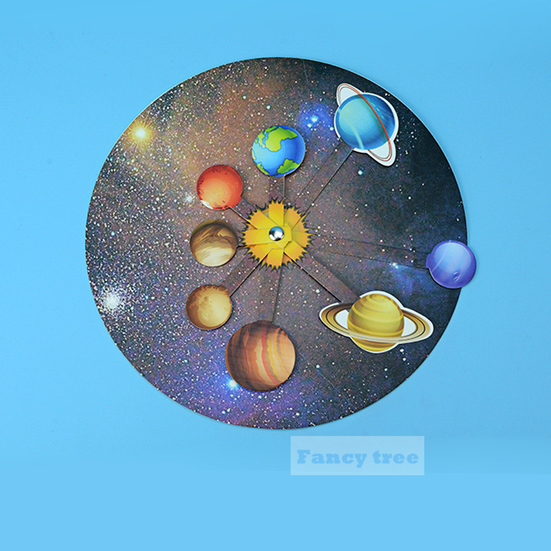 DIY Solar System Eight Planets Assembled Model Toy For Children Kids Universe Science Simulation Educational Toy
