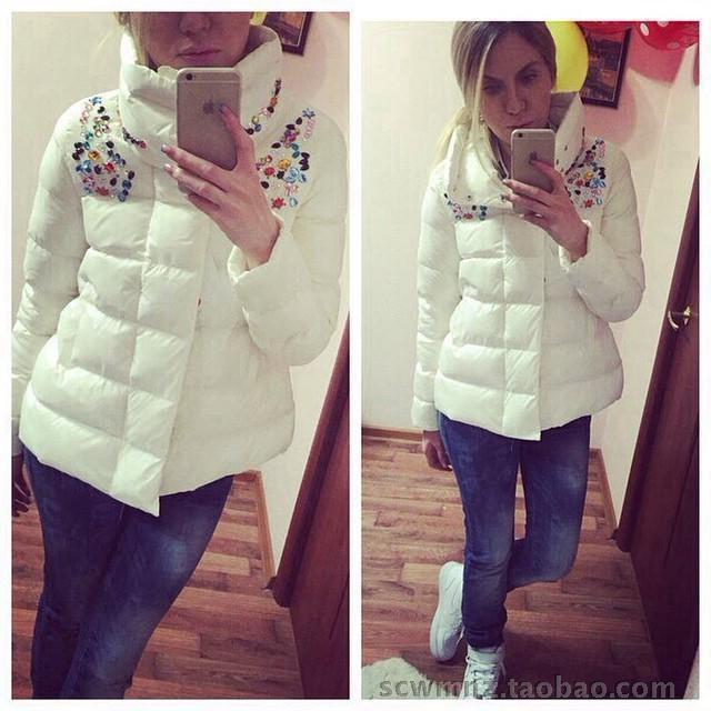 Womens Winter Jackets And Coats Solid No Zipper Slim Thick 2016 New Hot Cotton Padded Jacket With Winter Warm Special Offer