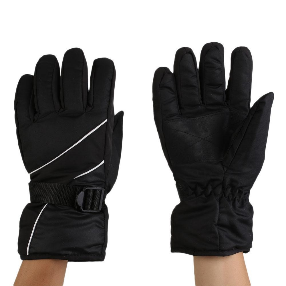 Mens ski gloves xxl - 1 Pair Men Gloves Waterproof For Winter Outdoor Sports Snowboard Warm Skiing Gloves Black Red