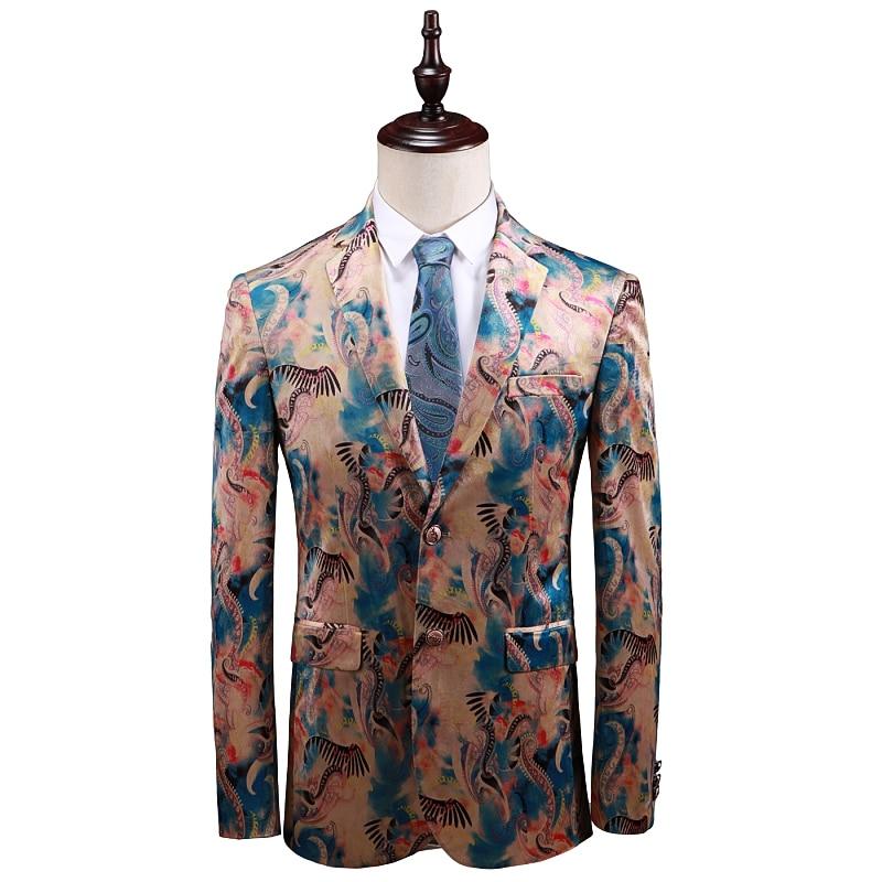 Весна и осень высокое качество мужской костюм куртка с длинным рукавом Азия размер s-5XL мужские спортивные пиджаки 2019 тонкий дизайн мужской ...