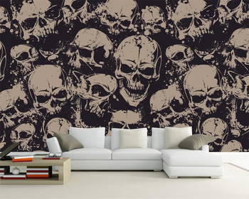 Beibehang Custom wallpaper high-end character skull art background wall living room bedroom TV background murals 3d wallpaper