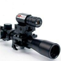 4x20 היקף אופטיקה אקדח אוויר עם אדום לייזר Sight קומבו של 11 מ