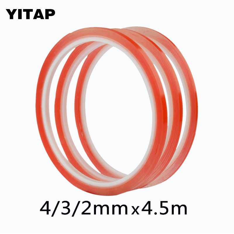 Double Side Red Transparent PET adhesive tape For Mobile LCD Screen strong double sided tape все цены