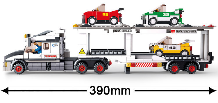 Sluban model building kits compatible with lego city truck 446 3D blocks Educational model & building toys hobbies for children sluban model building kits compatible with lego city fire 739 3d blocks educational model