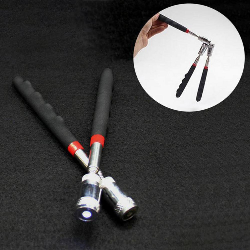 Genereus Led Magnetische Telescopische Pen Roestvrij Ijzer Bar Schroef Moer Picking-up Tool