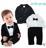 2015 Toddlers Baby Boy 2 Pcs Set Gentleman Bow Ties Rompers Jackets Vestido Bebe Suit Birthday