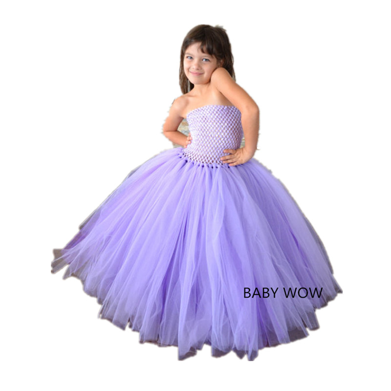 ФОТО BBWOWLIN Handmade NewBorn Baby Pageant Dresses for Girls Glitz Wedding Flowers Tutu Dresses First Communion Dresses 80174