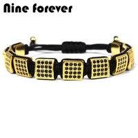 Nine Forever Clearance Jewelry Charms Bracelet Men Box Design Antique Braiding Macrame Bracelets Pulseira Masculina Bileklik