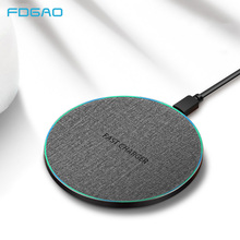 FDGAO 15W Qi Fast Wireless Charger For iPhone X XR XS Max 8 Samsung Note 9 S8 S9 S10 Xiaomi Mi USB Quick Charging Pad
