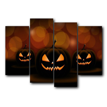 Abstract Canvas Oil Painting Halloween Theme Vintage Artwork Poster Living Room Bedroom Home Decor Wedding Decoration No Frame
