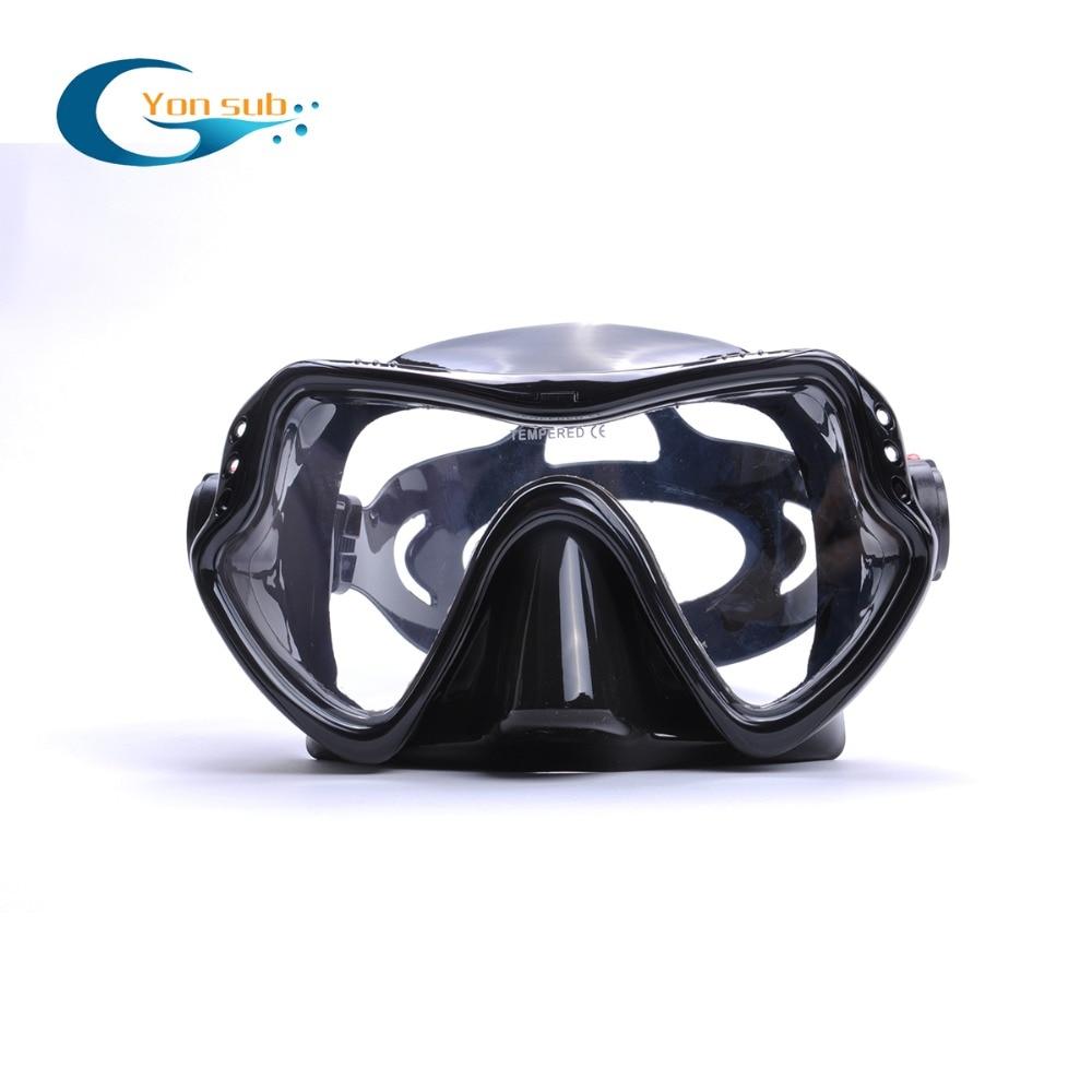 Hot Sale Ny Professionell Scuba Swimming Mask Snorkling Silikon Svart - Vattensporter