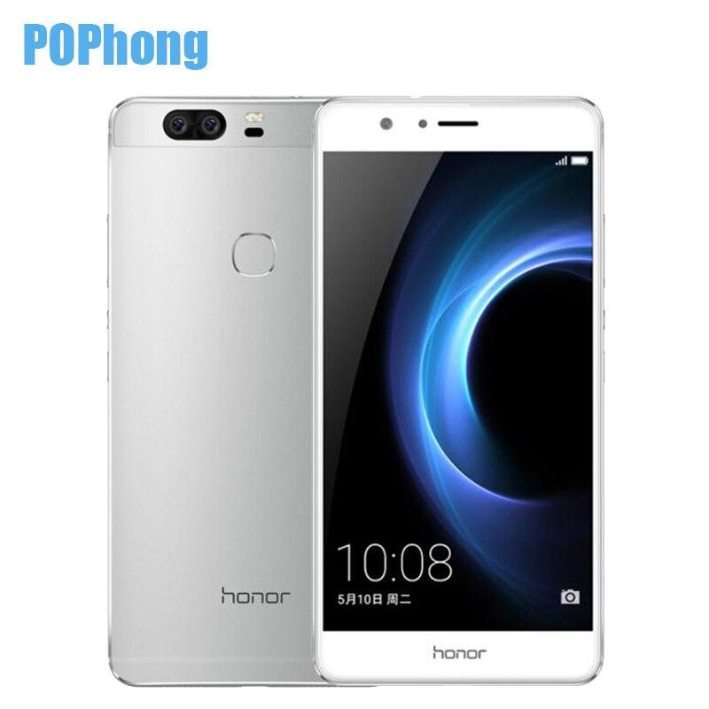 bilder für Ursprünglicher Huawei Honor V8 5,7 zoll Handy 4 GB RAM 32 GB Dual Hinten 12.0MP Kamera Android 6.0 Kirin 950 Octa Core