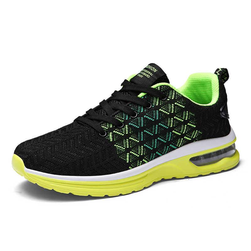 2018 Популярные кроссовки стильные дышащие сетчатые спортивные кроссовки мужские беговые кроссовки дорожный носок