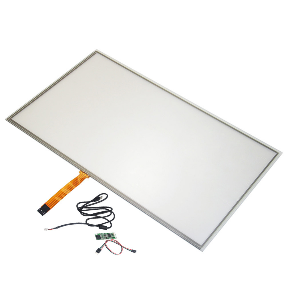 15.6 Widescreen 359*209mm 4 wire Resistive Industry Touch screen Panel Digitizer Glass +USB Controller Win 7 PC 5 7 inch 4 wire touch screen glass new