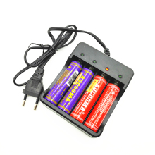 18650 Vape Battery Charger 100-240V 4 Slots Electronic Cigarette Smart Charger for 18650 Lithium-ion Battery EU Plug