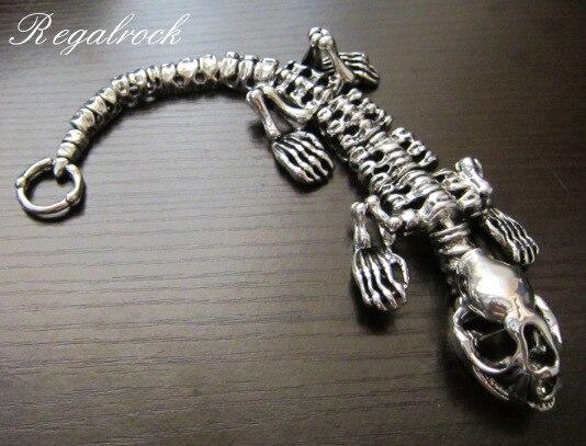 Regalrock 3D T Rex Tyrannosaurus Skull Jewelry Dinosaur Skeleton Bracelet