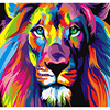 Frameless Colorful Lion Animal Abstract Painting DIY Digital Paintng Digital Modern Wall Art Picture For Home