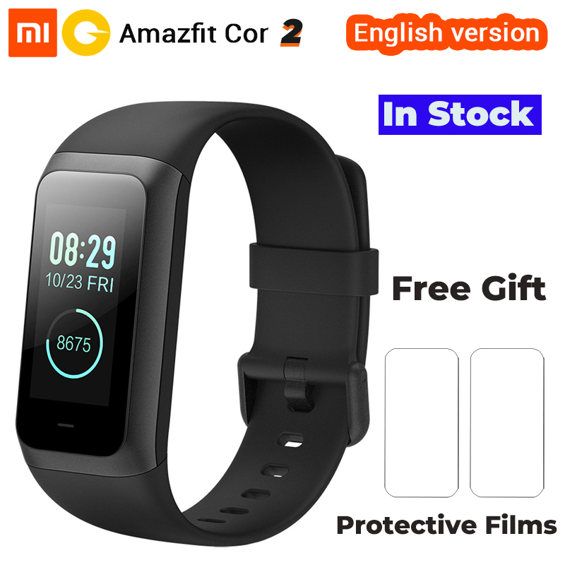 Newest English Version Xiaomi Huami Amazfit Cor 2 5TM Waterproof 2 5D Color IPS Screen Midong