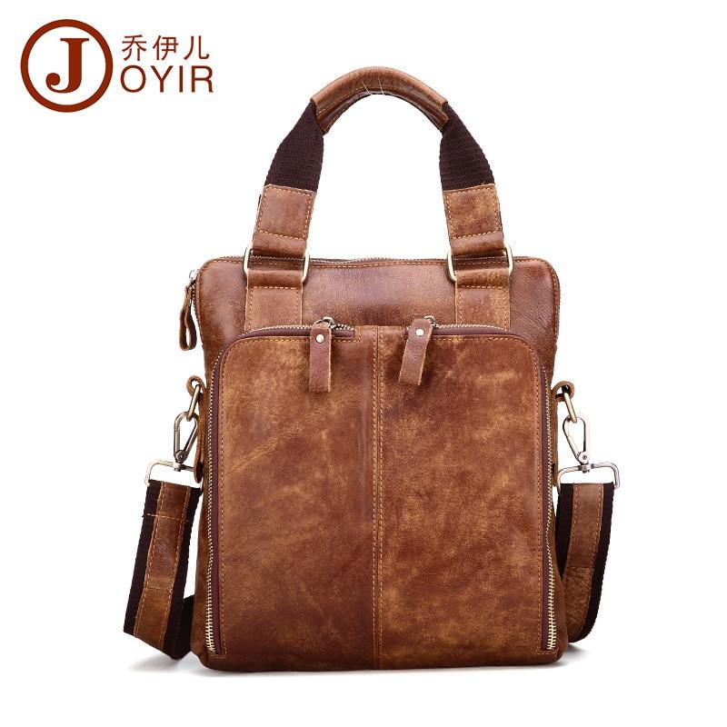 Здесь продается  Handsome Vintage Pure Natural Genuine leather men handbags High grade Oil waxing leather shoulder messenger bags OK for A4  Камера и Сумки